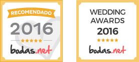 Sellos de los Premios Bodas.net