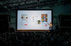 presentación de un producto