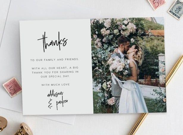 carta de agradecimiento bodas